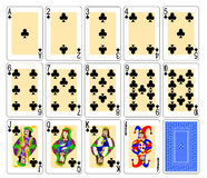 Playing Cards - clubs Royalty Free Stock Image