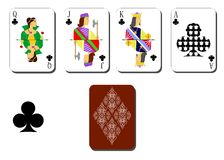 Playing cards clubs Stock Photos