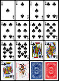 Playing Cards - Clubs Suit Stock Photography