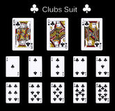 Playing cards clubs suit Stock Photography