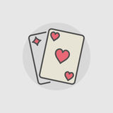 Playing cards colored icon Royalty Free Stock Photos