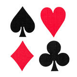 Playing cards colors Royalty Free Stock Photography