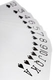 Playing cards of colour of Spade isolated Stock Photography