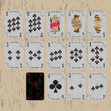 Playing cards deck clubs Royalty Free Stock Photos