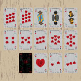 Playing cards deck hearts Royalty Free Stock Image