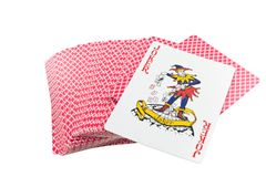 Playing cards deck isolated royalty free stock image