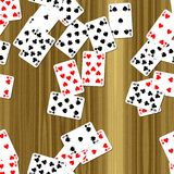 Playing cards on deck seamless generated hires texture. Or background vector illustration