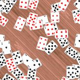 Playing cards on deck seamless generated hires texture Stock Photo
