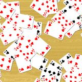 Playing cards on deck seamless generated hires texture Royalty Free Stock Photo