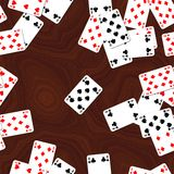Playing cards on deck seamless generated hires texture. Or background royalty free illustration