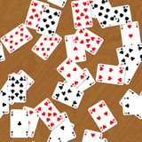 Playing cards on deck seamless generated hires texture. Or background stock illustration