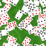 Playing cards on deck seamless generated texture Royalty Free Stock Photo