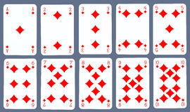Playing cards - Diamond Royalty Free Stock Image