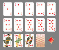 Playing cards - diamond suit Stock Photo