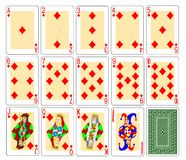 Playing Cards - diamonds Royalty Free Stock Photography