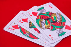 Playing cards diamonds Stock Photos