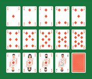 Playing Cards Diamonds Set Stock Photos
