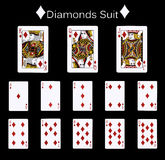 Playing cards diamonds suit Royalty Free Stock Photos