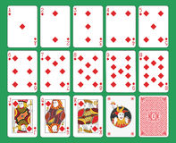 Playing Cards Diamonds Suit Stock Photo