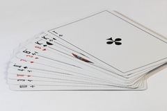 Playing cards fanned out Royalty Free Stock Images