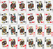 Playing Cards Figures Black Jack Collection Stock Photography
