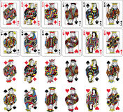 Playing Cards Figures Collection Stock Photography
