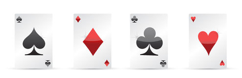 Playing cards. Four aces poker illustration Royalty Free Stock Image