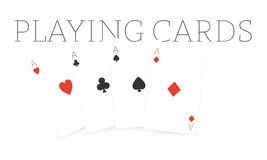 Playing cards - four aces Stock Photos