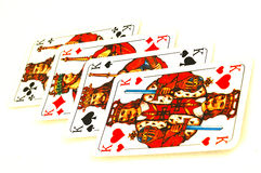 Playing Cards Four Kings Royalty Free Stock Image