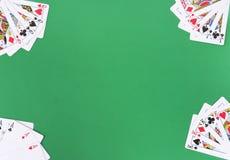 Playing cards frame arrangement Stock Photos
