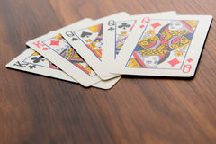 Playing cards - full house Stock Photo
