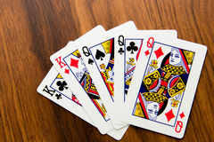 Playing cards - full house Stock Photography