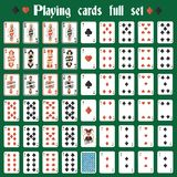 Playing cards full set Stock Photos