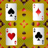 Playing Cards. Game card play symbol poker gamble ace shadow set win royalty free illustration