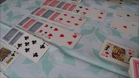 Playing cards stock video