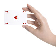 Playing cards in hand Stock Photography