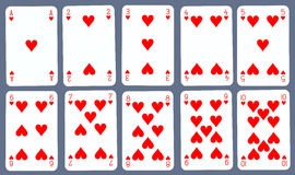 Playing Cards - Hearts Stock Image
