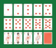 Playing Cards Hearts Set Royalty Free Stock Photo