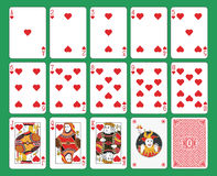 Playing Cards Hearts Suit Royalty Free Stock Photos