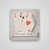 Playing cards icon. Vector illustration Stock Photo