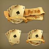 Playing Cards icons. Playing Cards, vector illustration icons Royalty Free Stock Photo