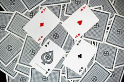 Playing cards - isolated on white background.  Stock Photos