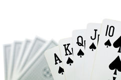 Playing cards - isolated on white background.  Royalty Free Stock Photos