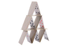 Playing cards isolated on white background Stock Photos