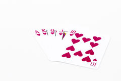 Playing cards isolated on white background Stock Photo