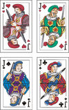 Playing cards. Jacks Stock Image