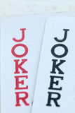 Playing cards with jokers Stock Photo