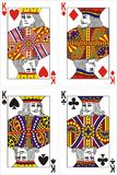Playing cards king 60x90 mm stock illustration