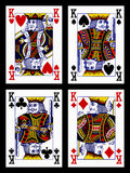 Playing cards - kings Royalty Free Stock Images