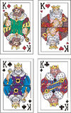 Playing cards. Kings Royalty Free Stock Photo